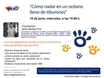 Nexo Centros Veterinarios lanza sus nuevos webinars para profesionales del sector veterinario